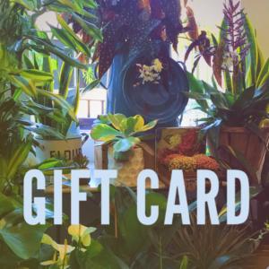 E GIFT CARD INTHE GARDEN